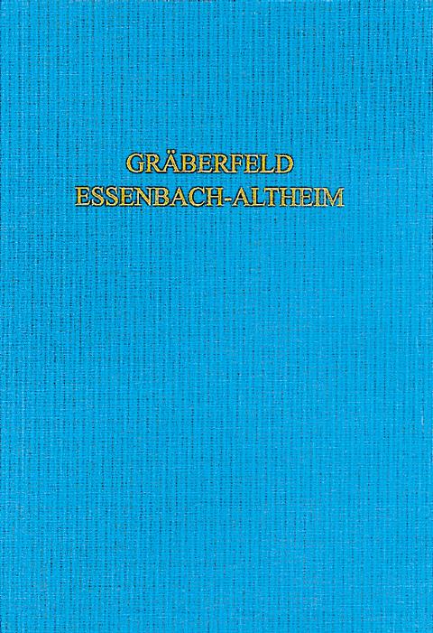 Sebrich, Das Spätantik-frühmittelalterliche Gräberfeld Von Essenbach-Altheim